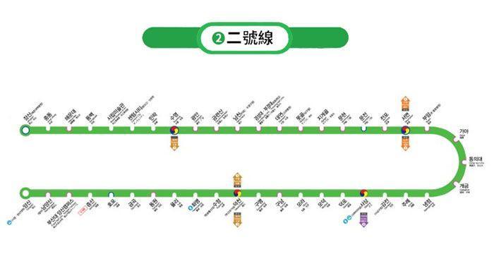 2018釜山地鐵二號線之旅