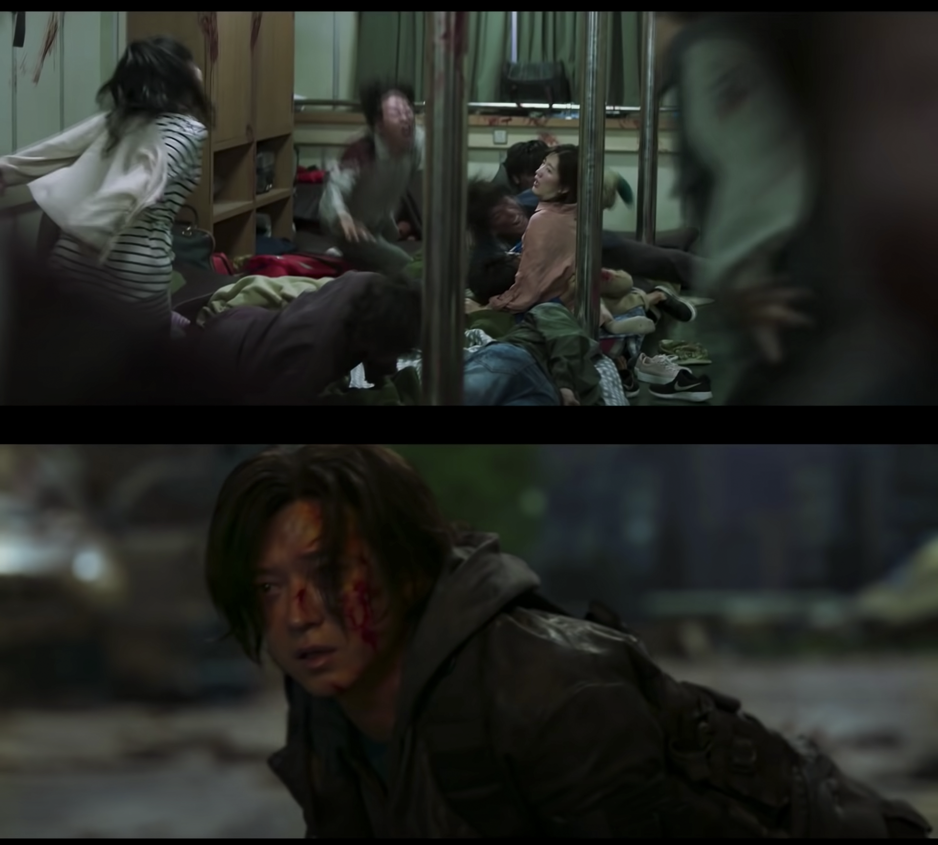 people turning into zombies on a ship on train to busan sequel the peninsula