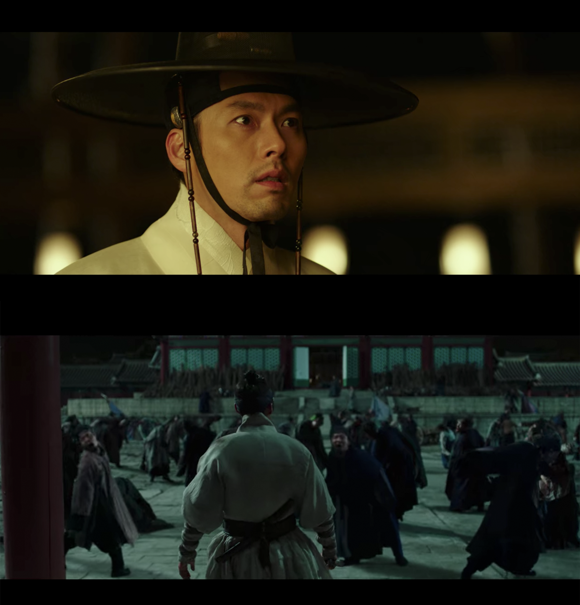 zombies in a korean palace in the joseon dynasty from the korean movie rampant