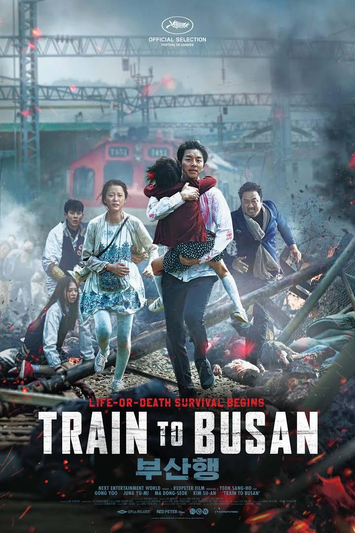 poster of train to busan showing gong yoo running