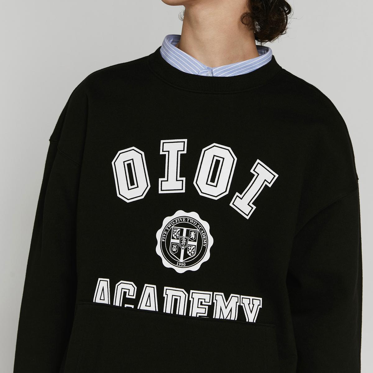 美式字母口袋大學T(黑色)