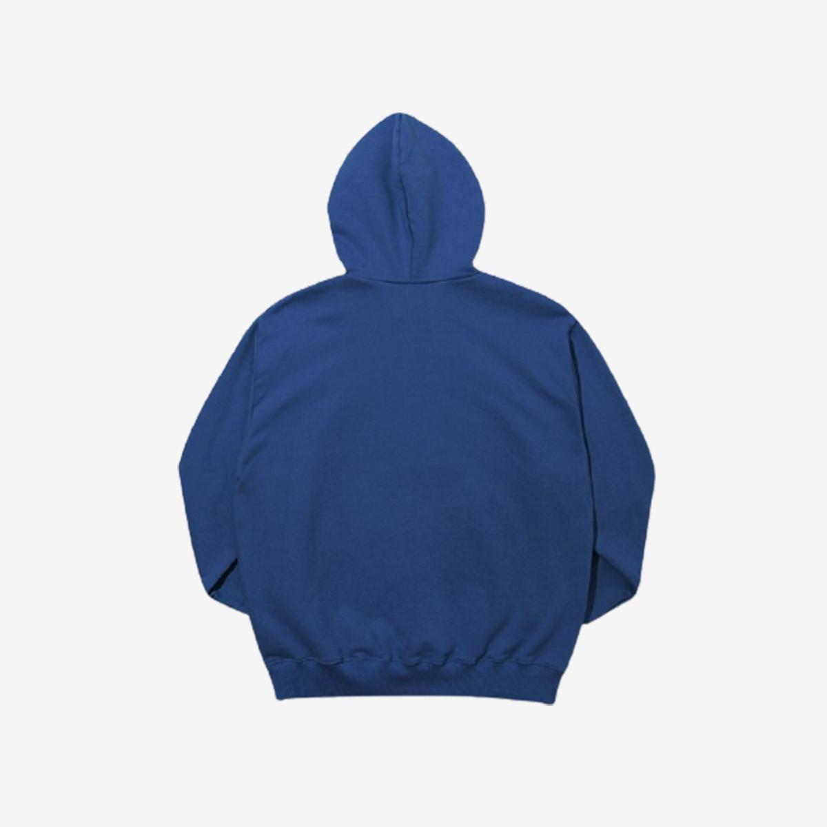 《泰迪熊聯名款》素面小熊刷毛帽T(靛藍色)