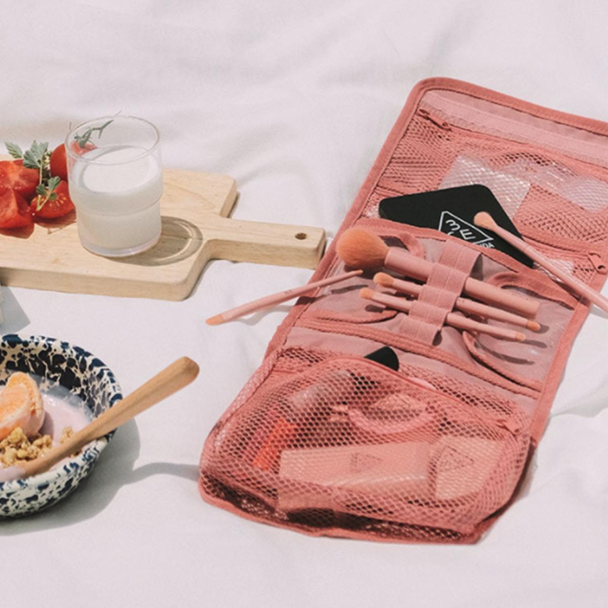 旅行折疊收納袋(淡粉色)